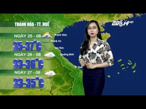 (VTC14)_ Thời tiết 12h ngày 24/06/2017
