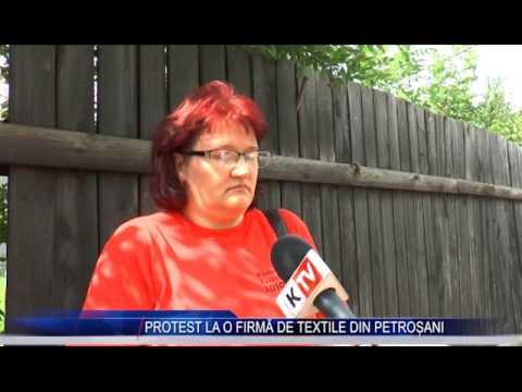 PROTEST LA O FIRMĂ DE TEXTILE DIN PETROȘANI