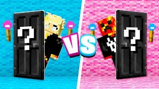 Video Minecraft MYSTERY Door Boy vs Girl Challenge! MP3, 3GP, MP4, WEBM, AVI, FLV Juni 2019