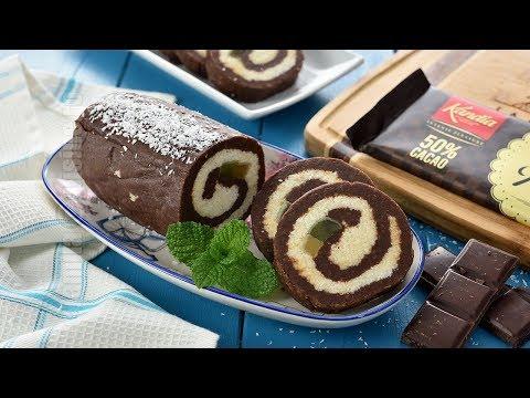 Rulada de biscuiti cu ciocolata (CC Eng Sub) | JamilaCuisine видео
