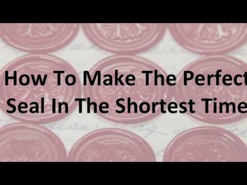 How to make the Perfect Seal in the Shortest Time