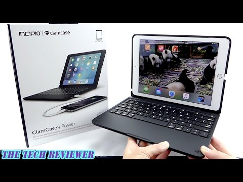 ClamCase+ Power for iPad Pro 9.7-The Top iPad Keyboard Case Gets Even Better-It Charges Your iPhone!
