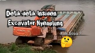 Insident excavator nyemplung sungai kapuas