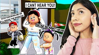 IGNORING MY KIDS FOR 24 HOURS! *THEY GOT SO MAD!* - Roblox - Bloxburg