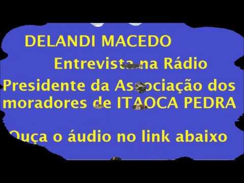 Entrevista na Rádio com Alzerino Presidente da Associação de Moradores de Itaoca
