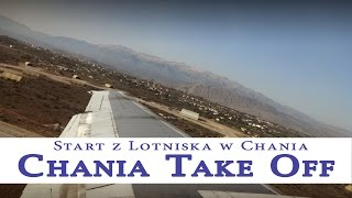 Chania Airport - Take off - Start z lotniska w Chania