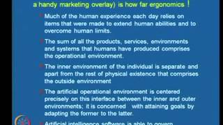Mod-08 Lec-31 Ergonomics Design Methodology