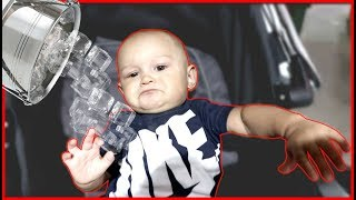 I poured ice on my baby while he was sleeping........
