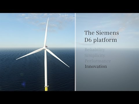 Siemens Wind Power D6 Platform Animation