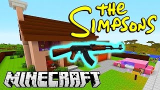 Minecraft Mods - GUN MOD DEATHMATCH #3 (SIMPSONS SPRINGFIELD) with Vikkstar & Friends!
