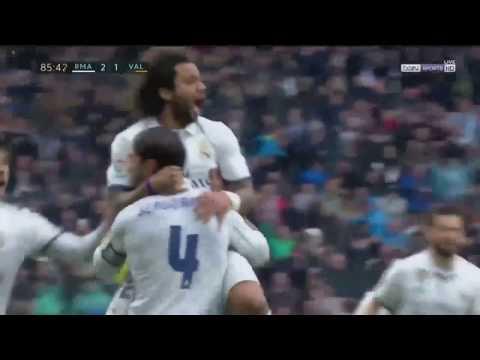 Marcelo Goal   Real Madrid vs Valencia 2 1   April 2017
