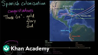 In the years after Columbus's first voyage, Spanish adventurers known as conquistadores began to colonize the surrounding areas of the Caribbean and the Americas. In this video, Kim explores the social changes that Spanish colonization created in the New World.