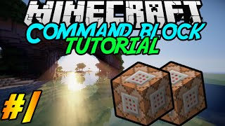 Command block Tutorial #1 | What can a command block do? + Useful tips! | Minecraft 1.8