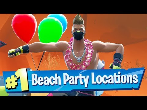 Fortnite 14 Days Of Summer Challenge Locations - Dance At Different Beach Parties