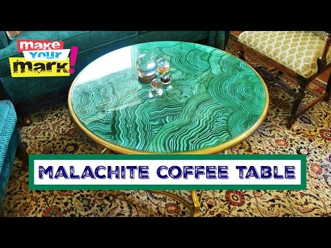Faux Malachite Coffee Table