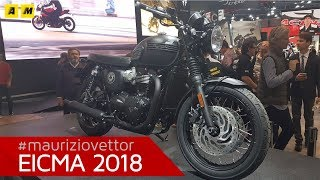 7. Triumph Bonneville T120 ACE - EICMA 2018 [ENGLISH SUB]