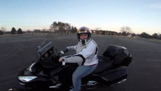 6. Wife learns to ride Spyder- 2013 Spyder RT