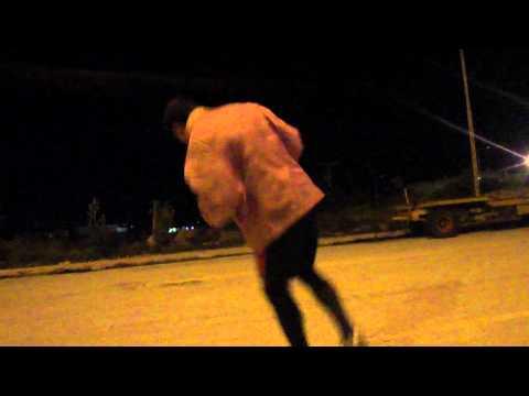 Shadow Boxing 110kg! John Hulk is dancing.. temp  8c! HD 720p