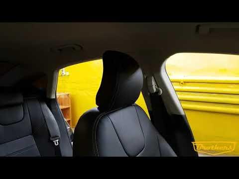 """Чехлы на Ford Mondeo 5 Trend, серии """"Premium"""" - серая строчка"""