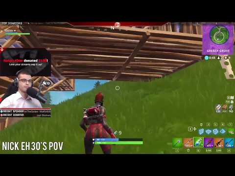 I beat Nick eh 30 in an intense 1v1 !