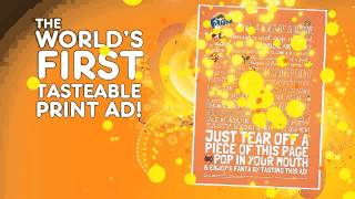 The World's First Tastable Print AD! Would you taste it?