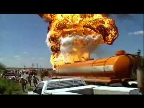 Destroyed In Seconds - Oil Tank Explosion