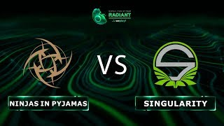 Ninjas in Pyjamas vs Team Singularity - RU @Map5 | Dota 2 Tug of War: Radiant | WePlay!