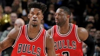 Dwyane Wade (20/10/9), Jimmy Butler (18/10/10) | Bulls Win at Cleveland by NBA