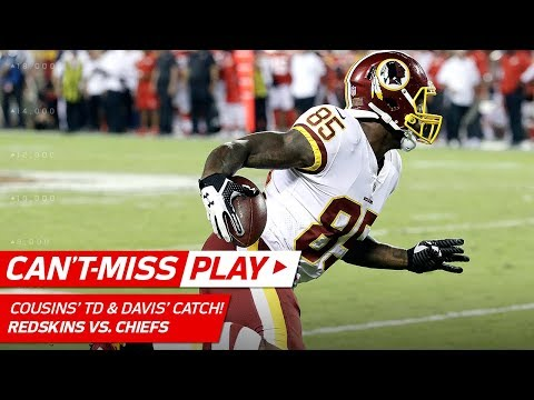 Video: Kirk Cousins' TD Pass Set Up by Vernon Davis Burning Rubber