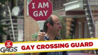 Gay Crossing Guard Prank