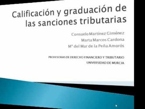 Calificación y graduación de las sanciones tributarias