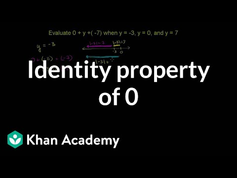 Identity Property Of 0 Video Khan Academy