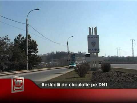 Restricţii de circulaţie pe DN1