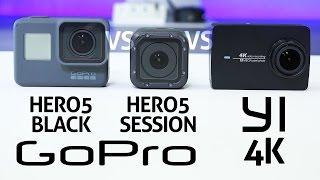Video GoPro HERO 5 Black vs Session vs YI 4K - REVIEW MP3, 3GP, MP4, WEBM, AVI, FLV September 2018