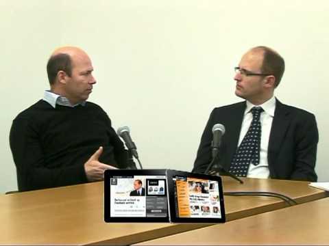 Wim Danhof haalde in Berlijn alvast Hans Janssen, CEO van WoodWing, voor de camera.