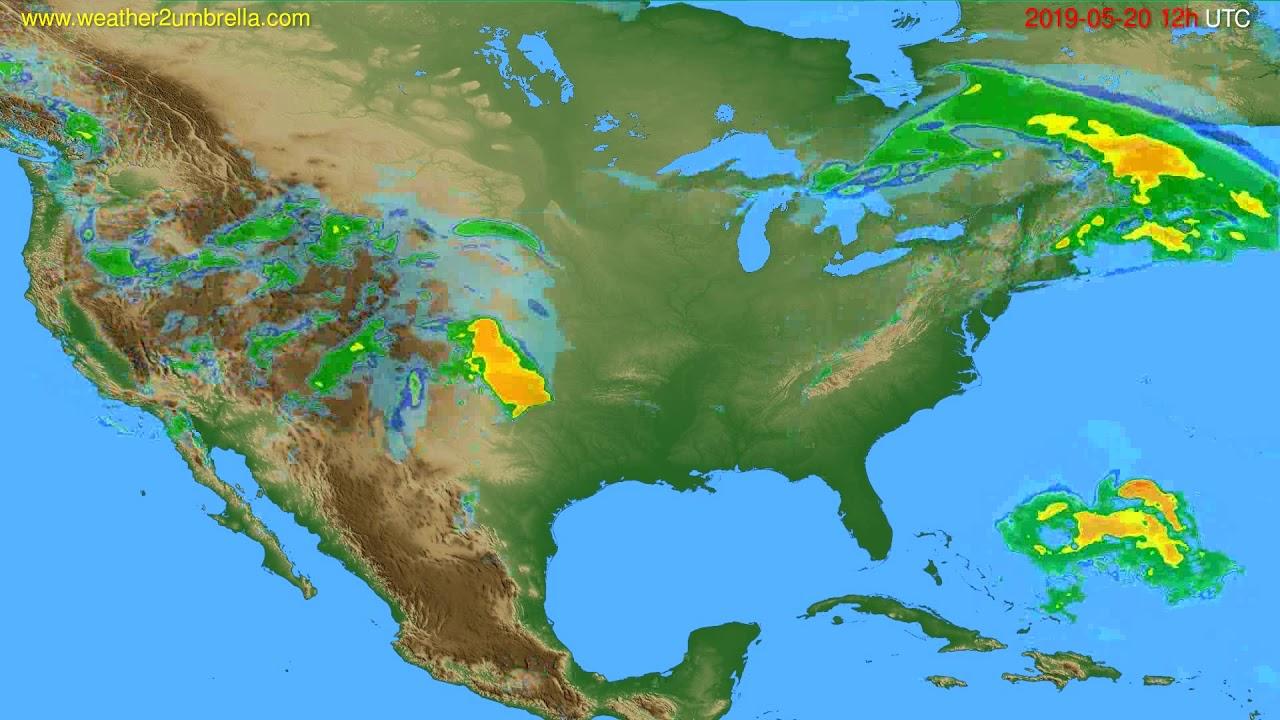 Radar forecast USA & Canada // modelrun: 00h UTC 2019-05-20