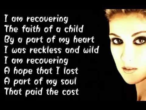 Celine Dion -  Recovering -  (  Lyrics )
