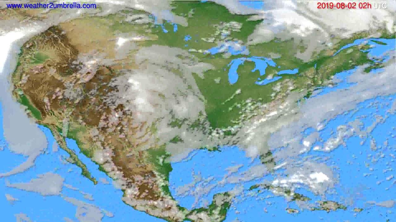 Cloud forecast USA & Canada // modelrun: 12h UTC 2019-07-30