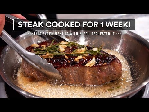I COOKED a steak for a WEEK and this happened!