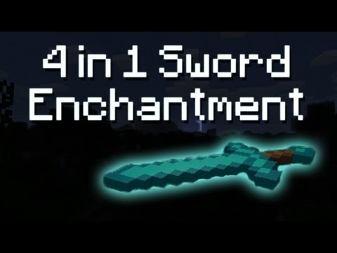 Minecraft: 4 in 1 Legit Diamond Sword Enchantment [1.9PR5] [720p]