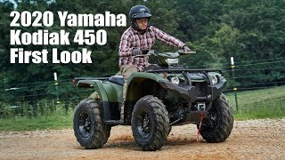 7. 2020 Yamaha Kodiak 450 with Front Differential Lock First Look