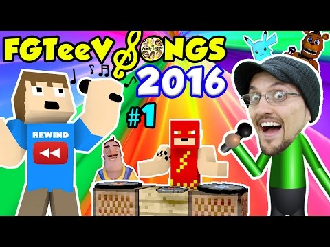 FGTEEV SONGS of 2016 YOUTUBE REWIND #1 (Songs for KIds w/ Games FNAF MINECRAFT POKEMON AMAZING FROG) (видео)