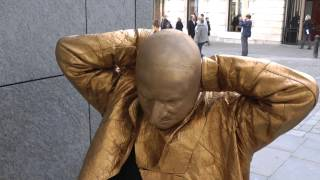 Video GOLD - A day in the life of a Living Statue MP3, 3GP, MP4, WEBM, AVI, FLV November 2017