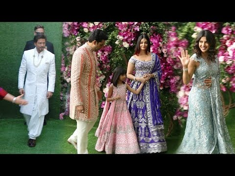 Bollywood Celebs Arriving @Mukesh Ambani's Son Akash Ambani MARRIAGE-SRK,Aishwarya,Abhishek,Priyanka