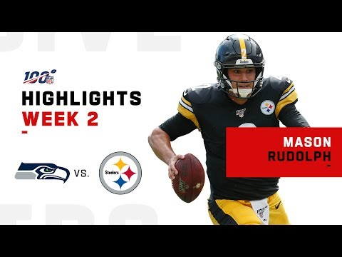 Mason Rudolph Throws 2 TDs in NFL Debut!   2019 Highlights