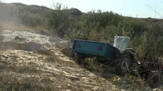 На мотоблоке Заря 101 в карьер за песком.mp4