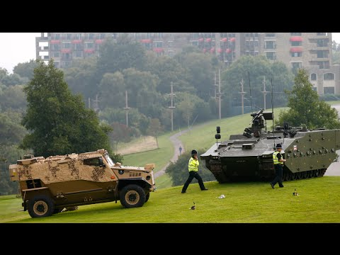 War machines on golf course: NATO Summit kicks off in Wales