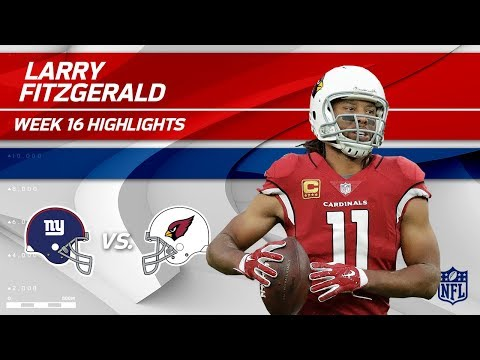 Video: Larry Fitzgerald Highlights | Giants vs. Cardinals | NFL Wk 16 Player Highlights