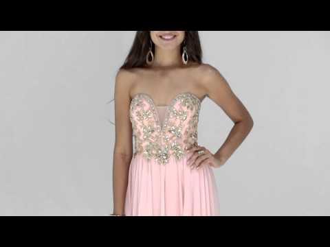 Shail K Beaded Plunging Neckline Dress 3900