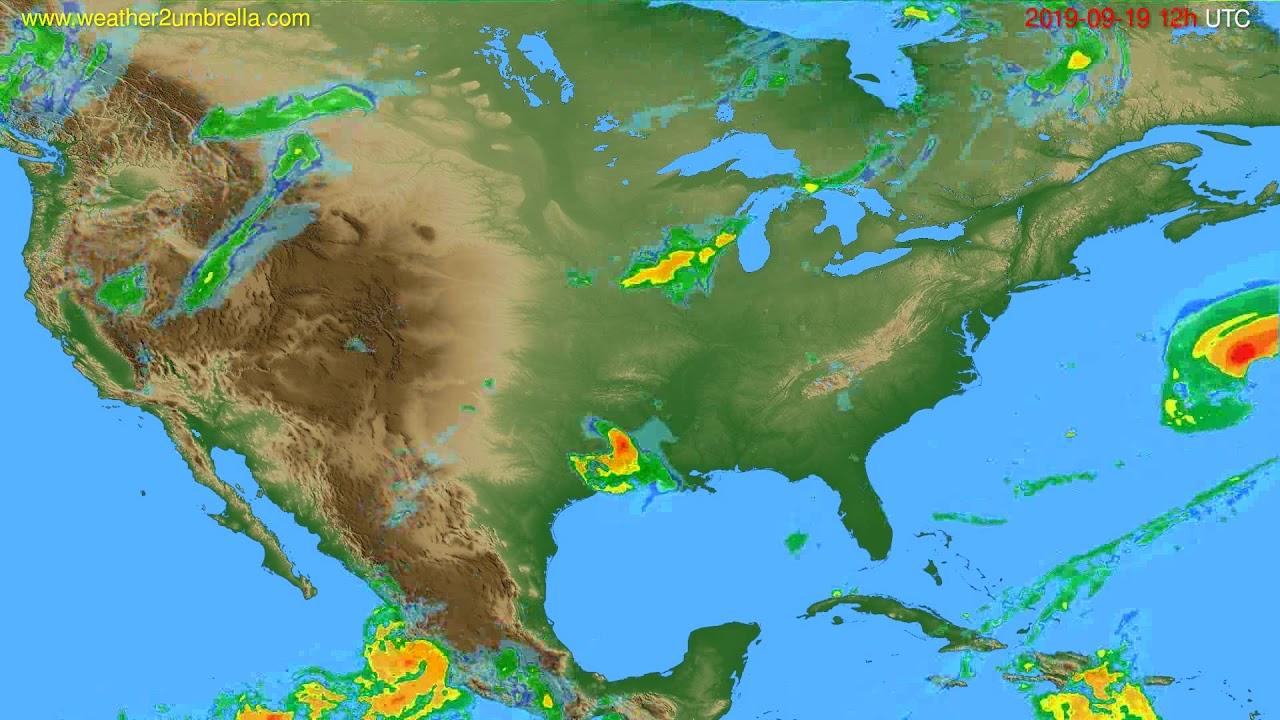 Radar forecast USA & Canada // modelrun: 00h UTC 2019-09-19